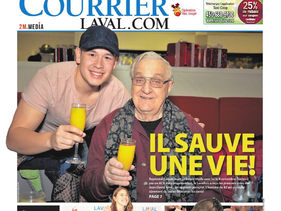 Un finissant en Techniques de sécurité incendie, Jean-David Ah-Ki, a sauvé un homme de 82 ans d'un malaise qui aurait pu être fatal. Son geste a été raconté dans un article du Courrier Laval.