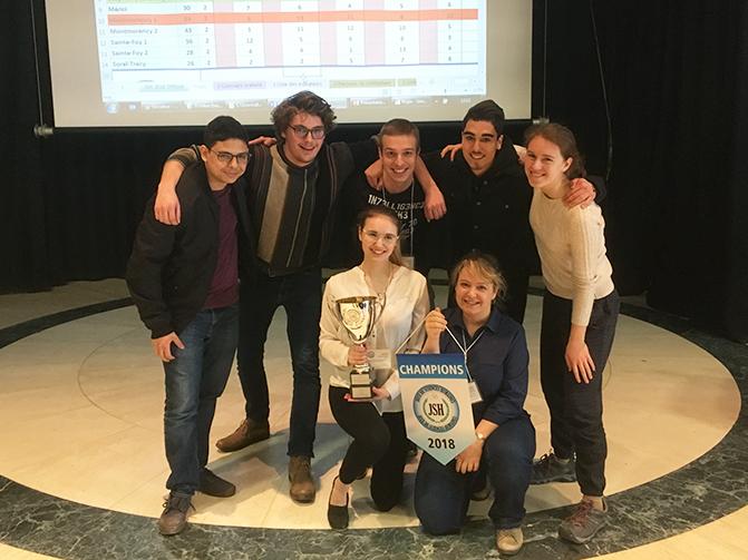 Une équipe du Collège Montmorency composée de Kristof Kozel, Jonathan Pigeon, Ophélie Moisan-Leduc, Béatrice Reid et Nassim Messaoud-Nacer, a obtenu la première place aux Jeux des Sciences humaines en avril 2018. Une autre équipe du Collège a réussi à atteindre la quatrième place.